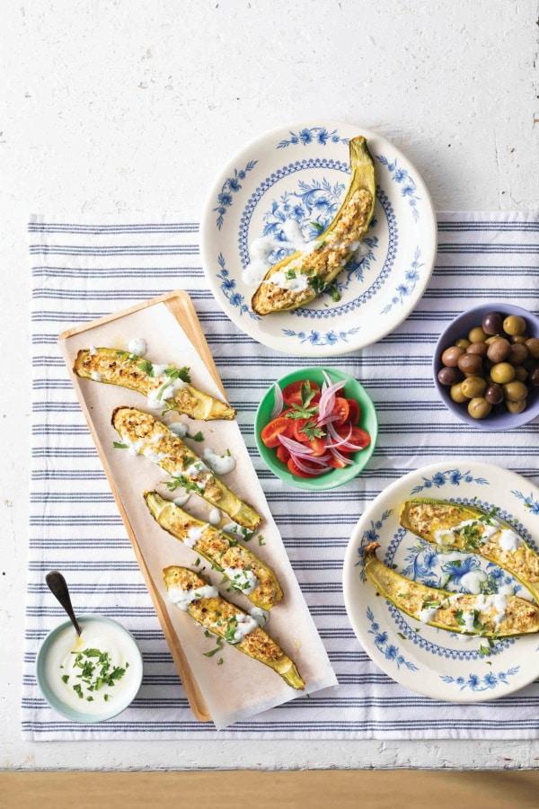 מתכון לקישואים ממולאים עם גבינת עיזים